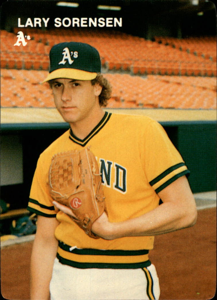 1984 A's Mother's #14 Lary Sorensen