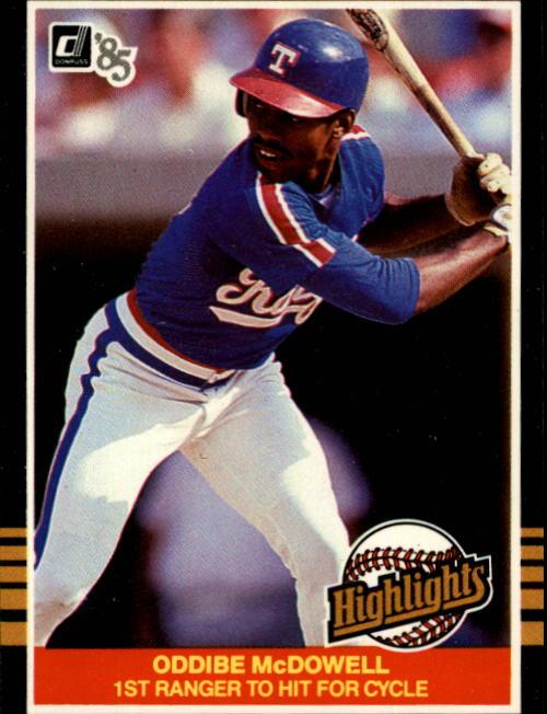 1985 Donruss Highlights #24 Oddibe McDowell