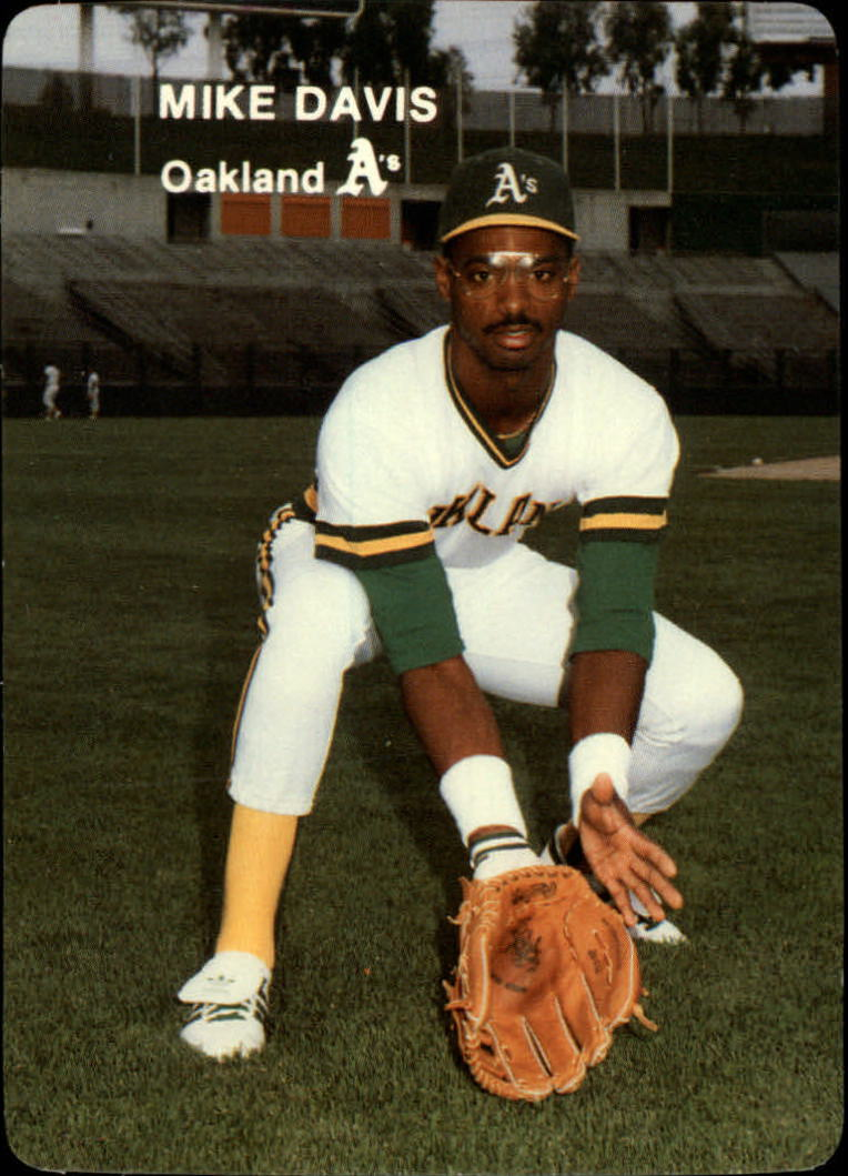 1985 A's Mother's #7 Mike Davis