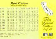 1985 Fleer Limited Edition #5 Rod Carew back image