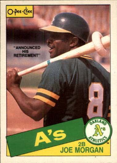 1985 O-Pee-Chee #352 Joe Morgan