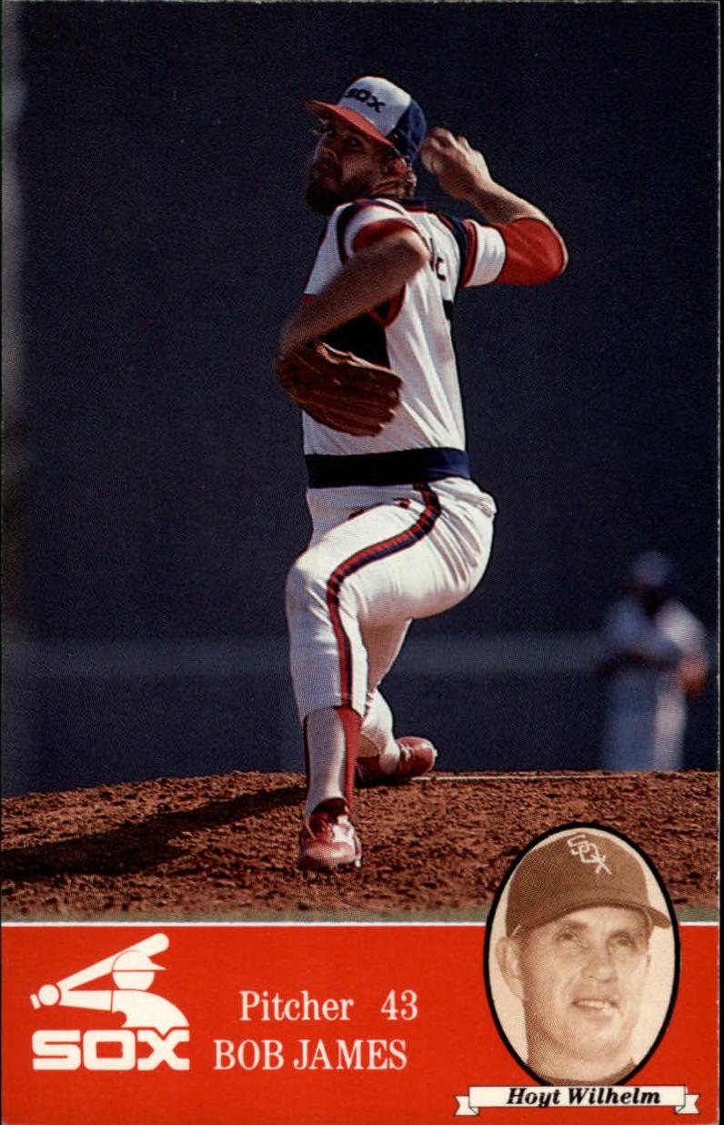 1985 White Sox Coke #43 Bob James/Hoyt Wilhelm