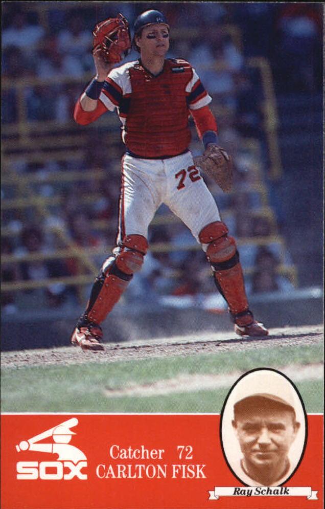 1985 White Sox Coke #72 Carlton Fisk/Ray Schalk