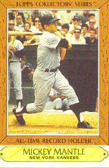 1985 Woolworth's Topps #23 Mickey Mantle