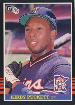 1985 Donruss #438 Kirby Puckett RC