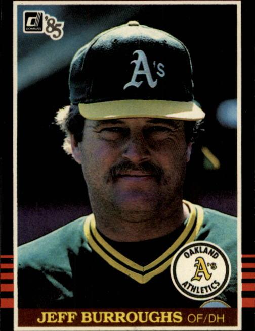 1985 Donruss #542 Jeff Burroughs