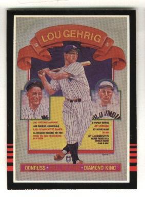 1985 Donruss #635 Lou Gehrig/Puzzle Card