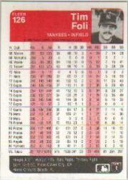 1985 Fleer #126 Tim Foli back image