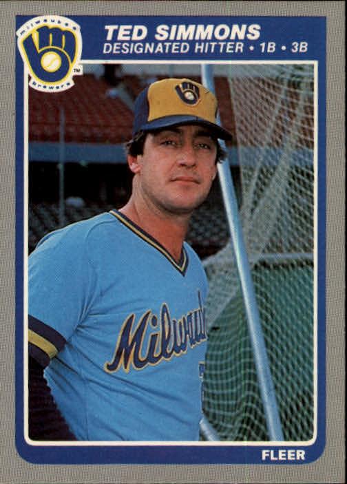 1985 Fleer #596 Ted Simmons