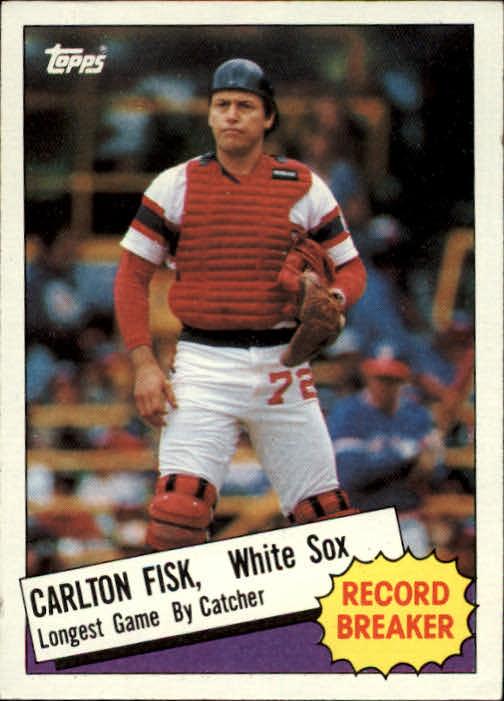 1985 Topps #1 Carlton Fisk RB