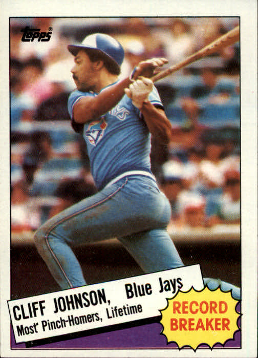 1985 Topps #4 Cliff Johnson RB
