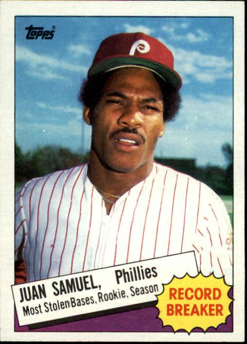 1985 Topps #8 Juan Samuel RB