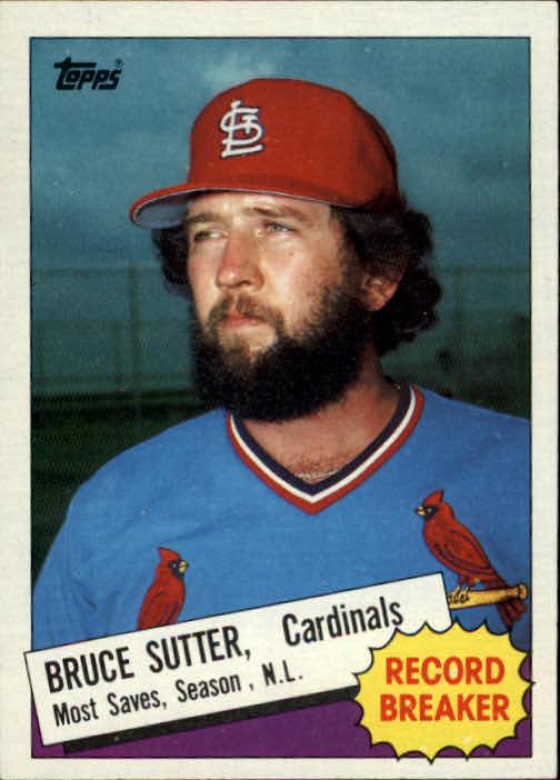 1985 Topps #9 Bruce Sutter RB