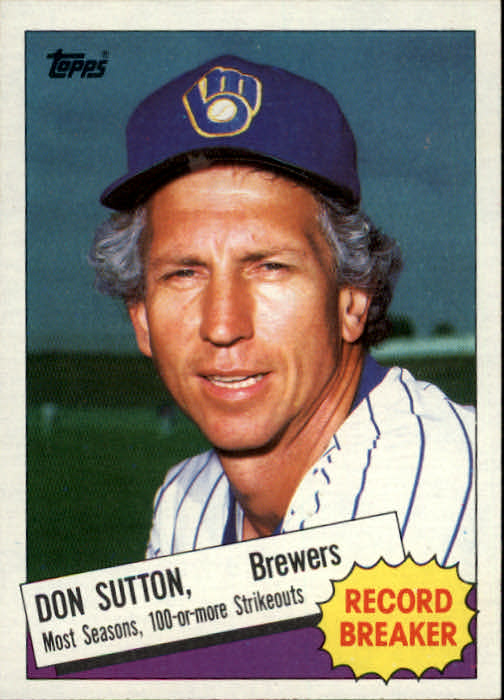 1985 Topps #10 Don Sutton RB