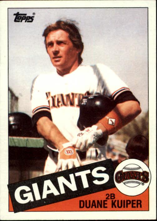 1985 Topps #22 Duane Kuiper