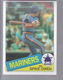 1985 Topps #84 Spike Owen