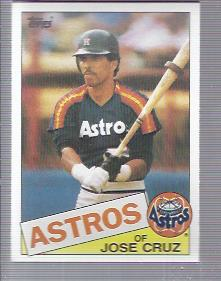 1985 Topps #95 Jose Cruz