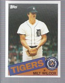 1985 Topps #99 Milt Wilcox