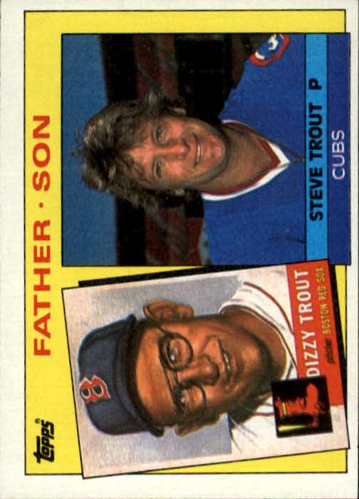 1985 Topps #142 Steve/Dizzy Trout FS