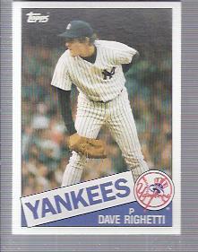 1985 Topps #260 Dave Righetti