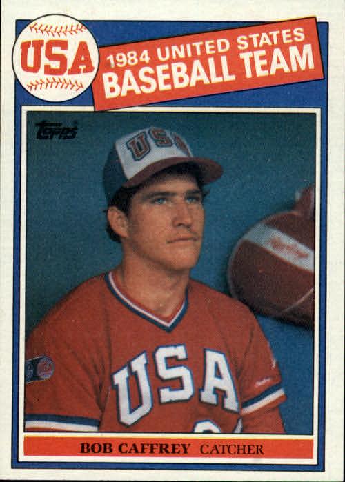 1985 Topps #394 Bob Caffrey OLY RC