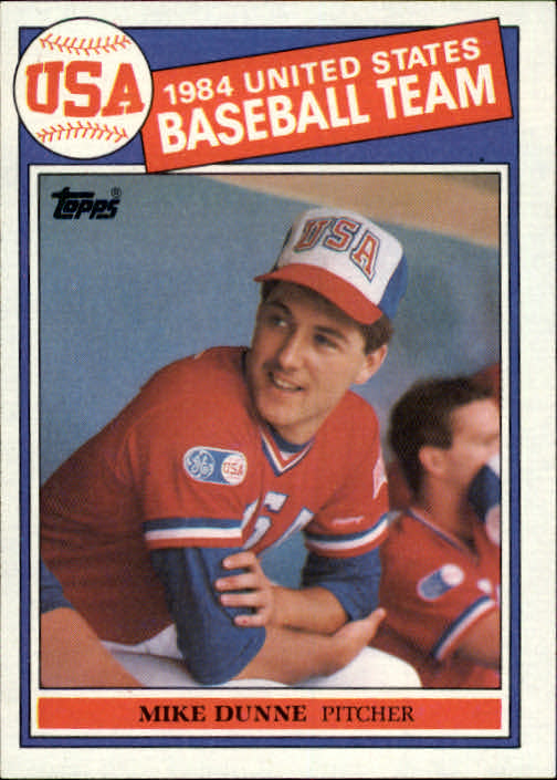1985 Topps #395 Mike Dunne OLY RC