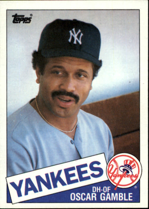 Image result for oscar gamble 1985 topps