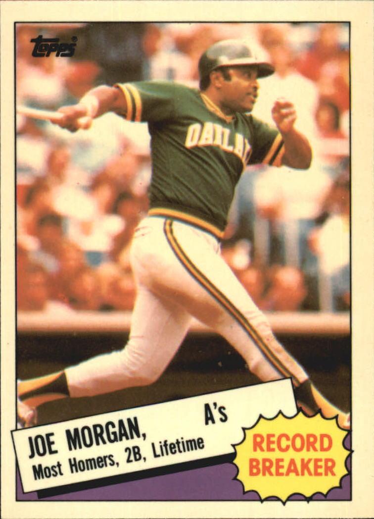 1985 Topps Tiffany #5 Joe Morgan RB
