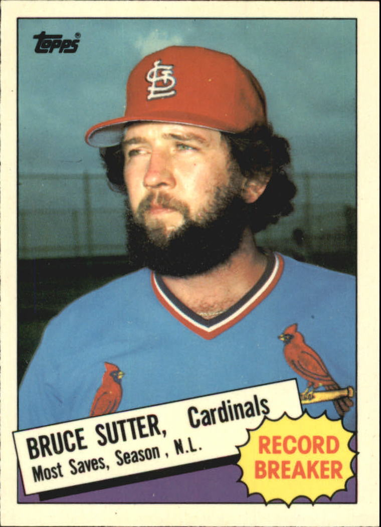 1985 Topps Tiffany #9 Bruce Sutter RB/Most saves&/season& NL