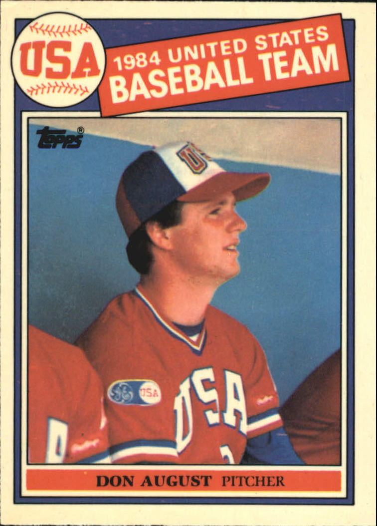 1985 Topps Tiffany #392 Don August OLY