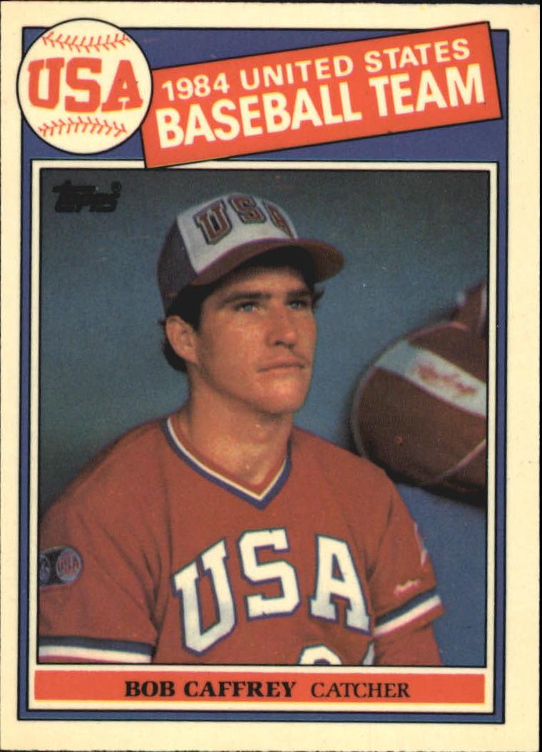 1985 Topps Tiffany #394 Bob Caffrey OLY