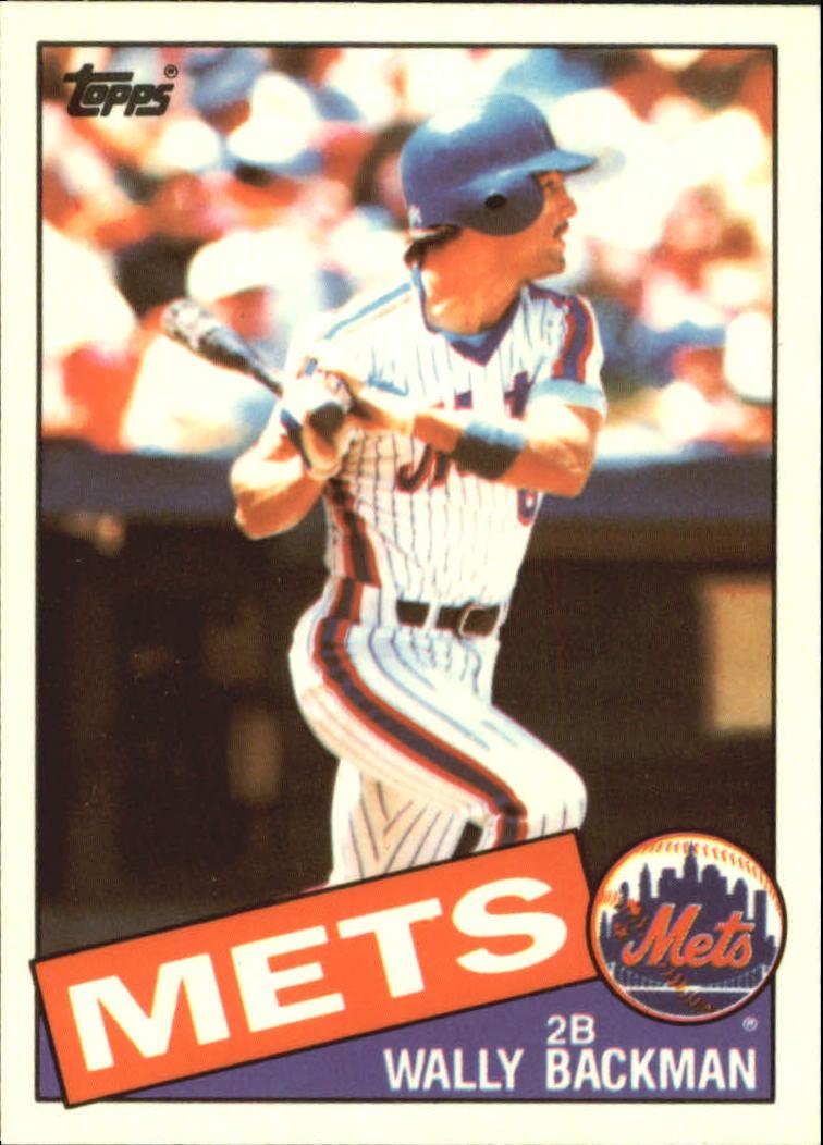 1985 Topps Tiffany #677 Wally Backman