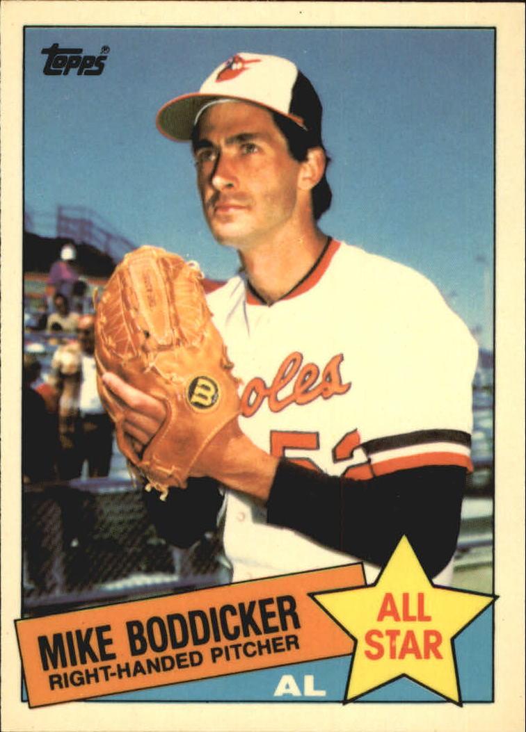 1985 Topps Tiffany #709 Mike Boddicker AS