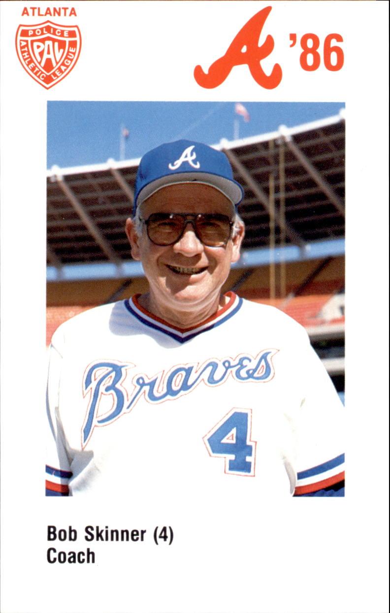 1986 Braves Police #4 Bob Skinner CO