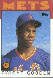 1986 Topps Wax Box Cards #F Dwight Gooden