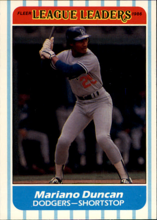 Buy Mariano Duncan Cards Online Mariano Duncan Baseball Price