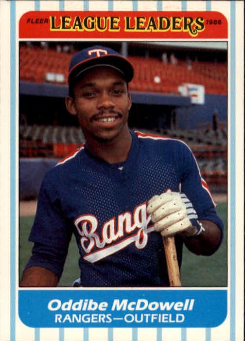 1986 Fleer League Leaders #23 Oddibe McDowell