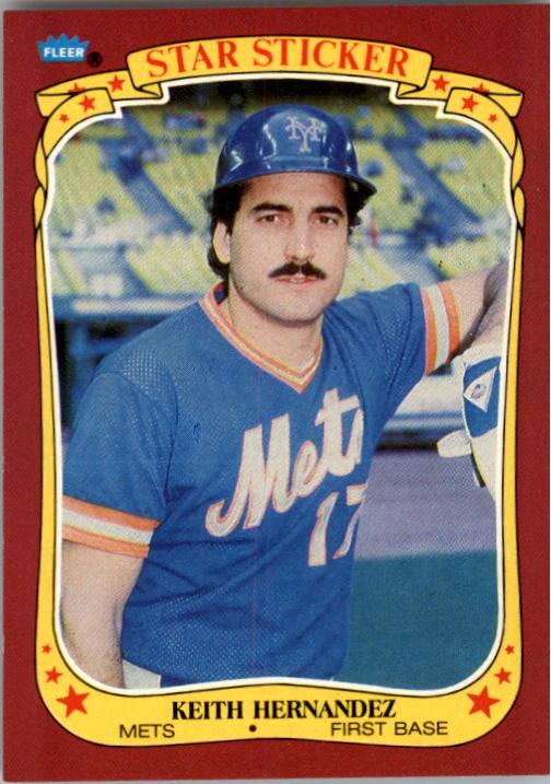 1986 Fleer Star Stickers #55 Keith Hernandez