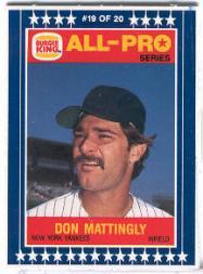 Buy 1986 Burger King All-Pro Sports Cards Online | Baseball Card Value &  Checklist - Beckett