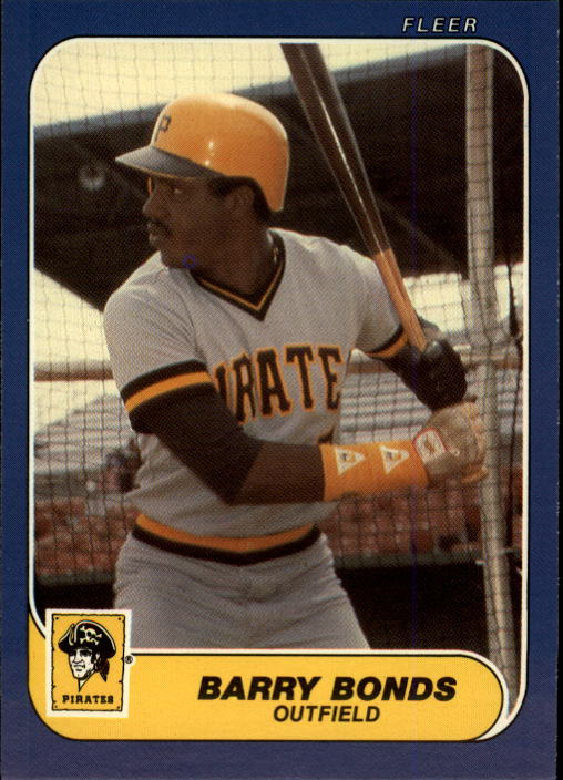 1986 Fleer Update #14 Barry Bonds XRC