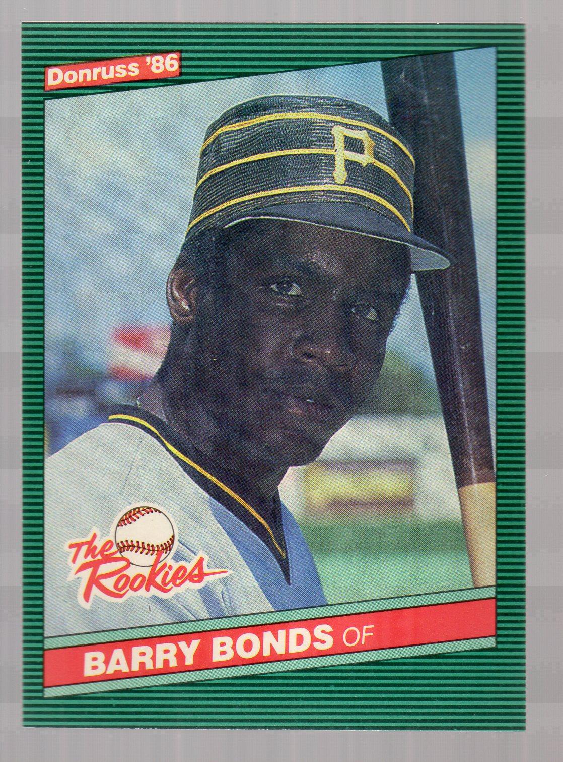 1986 Donruss Rookies #11 Barry Bonds XRC