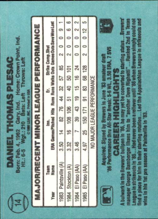 1986-Donruss-Rookies-Baseball-1-56-Your-Choice-GOTBASEBALLCARDS thumbnail 22