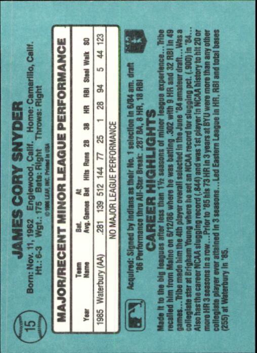 1986-Donruss-Rookies-Baseball-1-56-Your-Choice-GOTBASEBALLCARDS thumbnail 24