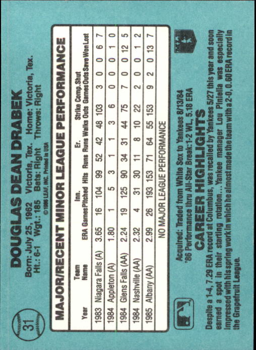 1986-Donruss-Rookies-Baseball-1-56-Your-Choice-GOTBASEBALLCARDS thumbnail 52