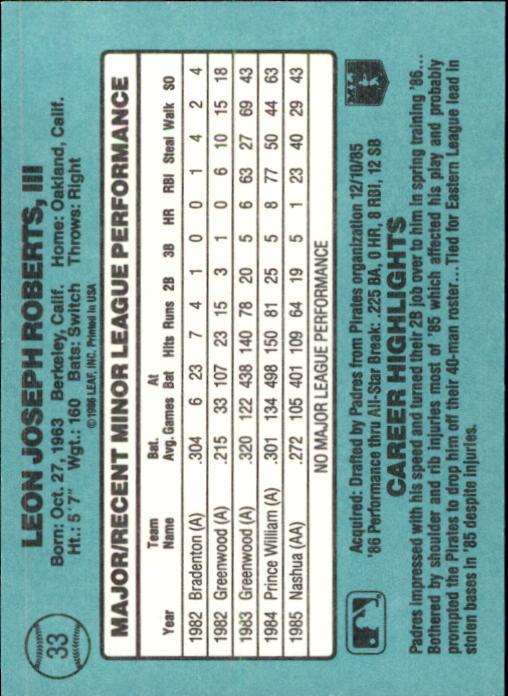 1986-Donruss-Rookies-Baseball-1-56-Your-Choice-GOTBASEBALLCARDS thumbnail 54