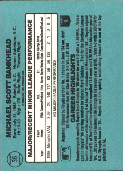 1986-Donruss-Rookies-Baseball-1-56-Your-Choice-GOTBASEBALLCARDS thumbnail 60