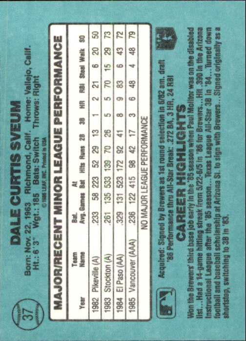 1986-Donruss-Rookies-Baseball-1-56-Your-Choice-GOTBASEBALLCARDS thumbnail 62