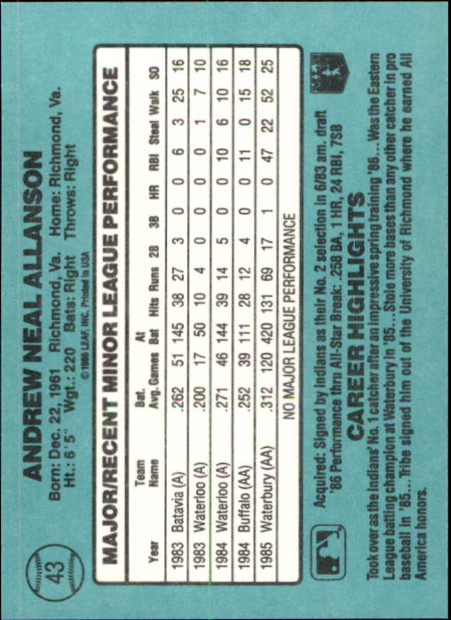1986-Donruss-Rookies-Baseball-1-56-Your-Choice-GOTBASEBALLCARDS thumbnail 74