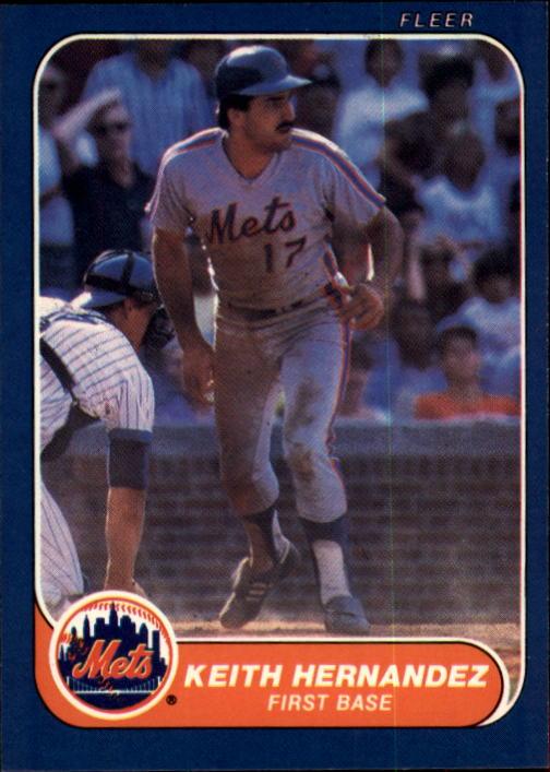 1986 Fleer #84 Keith Hernandez