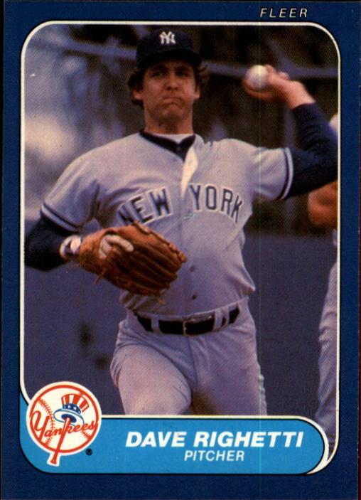 1986 Fleer #116 Dave Righetti
